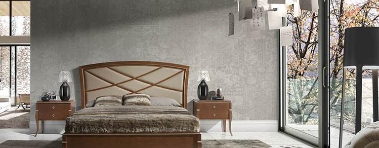 Camas modernas para dormitorios Valeria Toscana Ingles Natural Tapizado