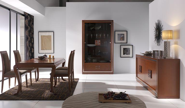 Muebles Monrabal Chirivella. Mesa Comedor colección Nilo