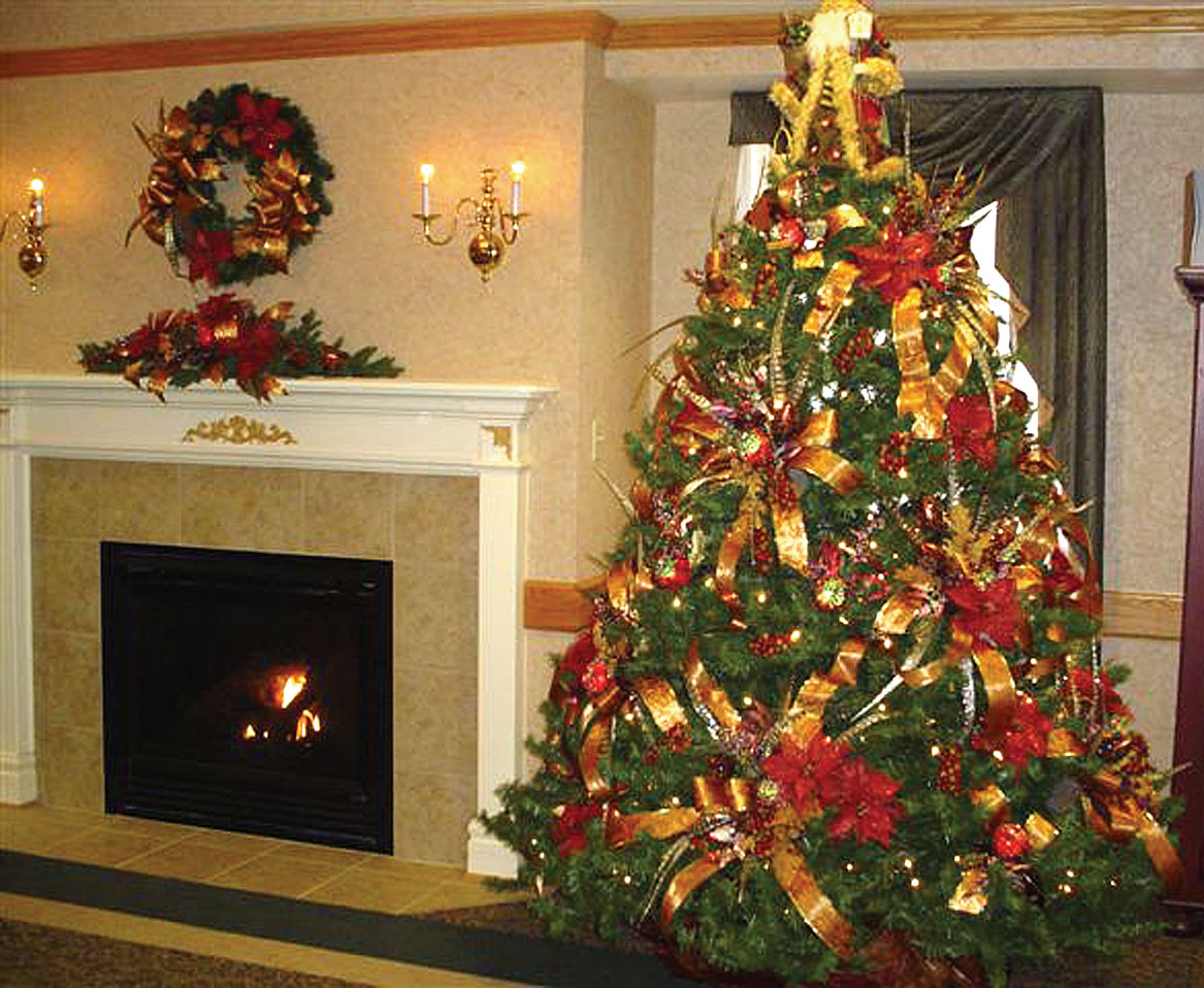 Living Facility, Boasts A Beautiful Chirstmas Tree