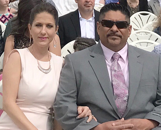 Captain Albert Medina and wife Potosha