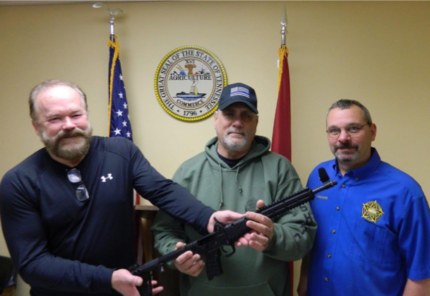 Robert Griswold, Bill Blackwell, Chief Deputy Chris White Monroe County Sheriff's Office
