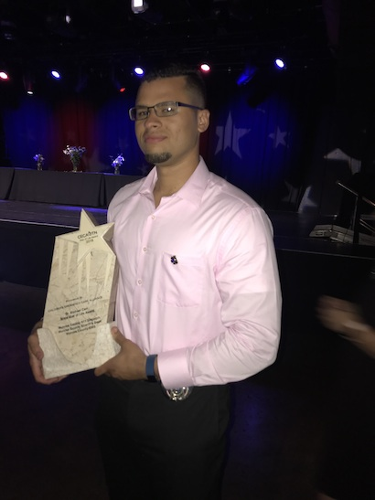 Deputy Trey Kilby with the Award