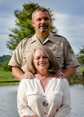 Chris White and his wife Angela Bright-White