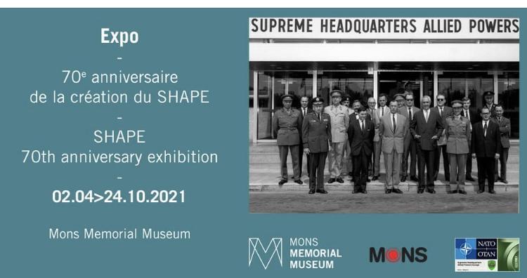 Exposition 70eme anniversaire création  du Shape au Mons Mémorial Museum