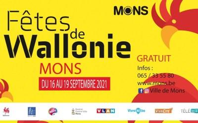 Les fêtes de Wallonie à Mons du 17 au 19 septembre 2021