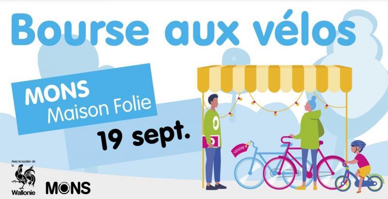 Bourse aux vélos à la Maison Folie Mons dimanche 19 septembre 2021 dès 10h