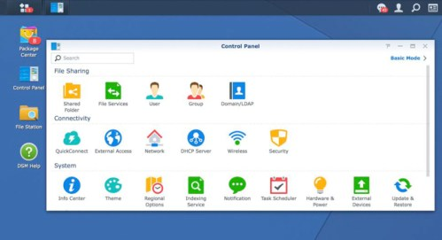 Synology DS718+ DSM Control Panel