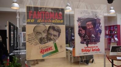 """Affiches """"Fantomas se dechaine"""" et """"les aventures de Rabbi Jacob"""" ©Monsieur Benedict"""