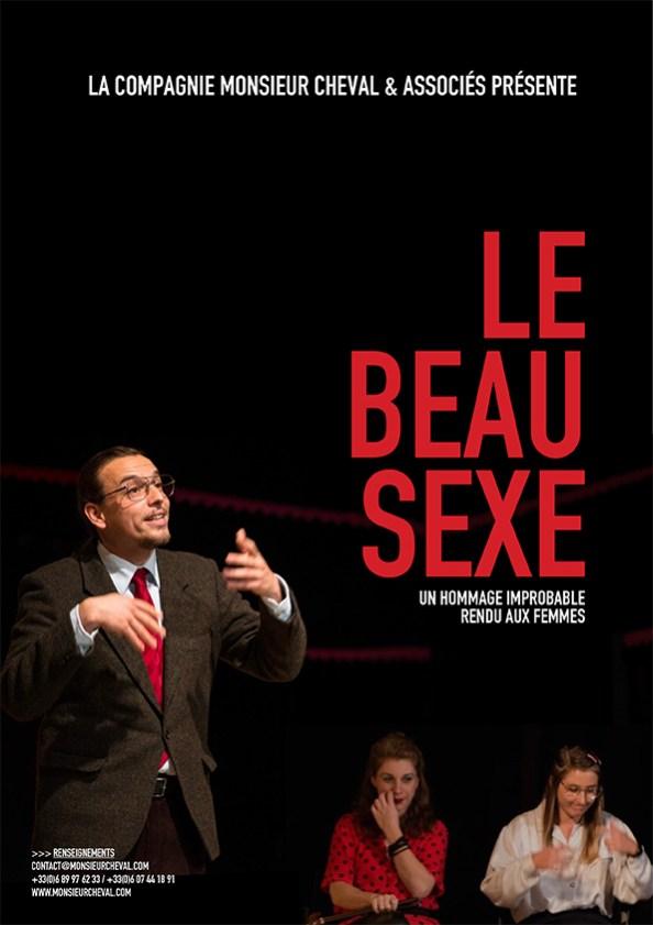 Affiche spectacle Le Beau Sexe