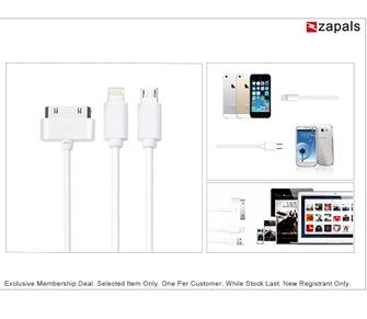 10.000 Câbles USB 3en1 offerts par Zapals!