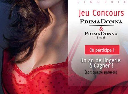 1 an de lingerie de 4 parures gratuites PrimaDonna à gagner !