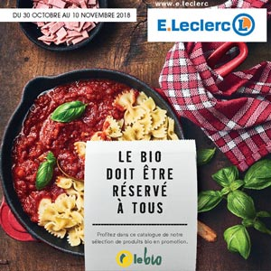 Catalogue E.Leclerc Du 30 Octobre Au 10 Novembre 2018