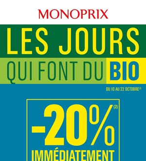 Catalogue Monoprix Du 10 Au 22 Octobre 2018