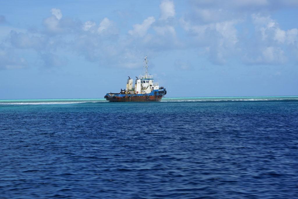 Maldives bateau échoué