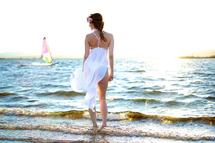 Sweet sunset .... : robe de plage X couronne de fleurs