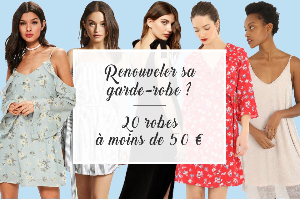 Renouveler sa garde-robe ? Voici 20 robes à moins de 50€ !