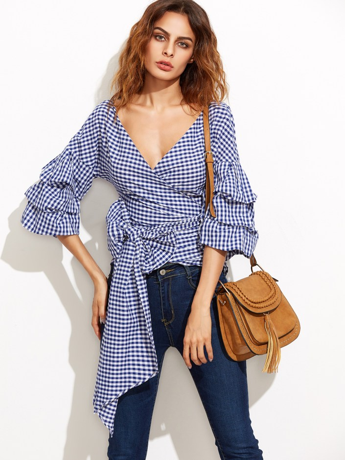 Blouse noeud Shein SOLDES