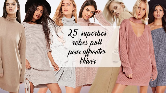 25 superbes robes pull pour affronter l'hiver