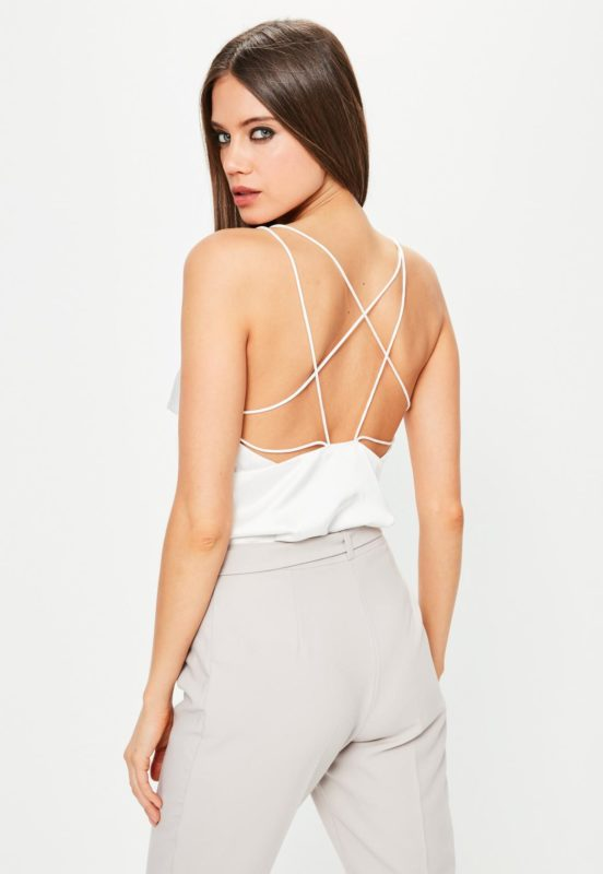 Body en satin à bretelles MissGuided