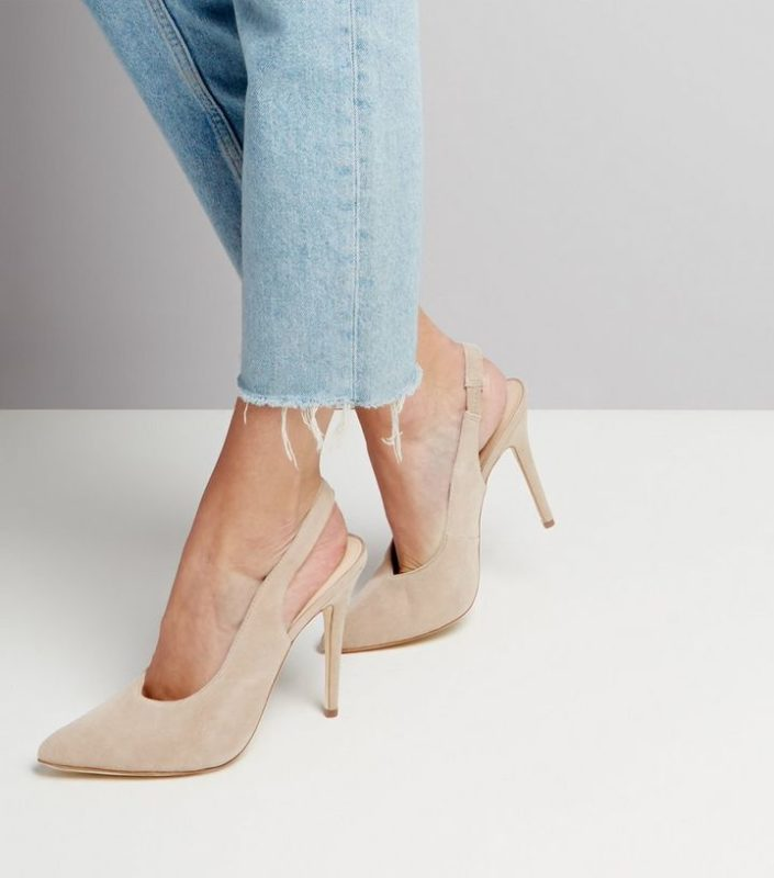 Chaussures en daim écru New Look