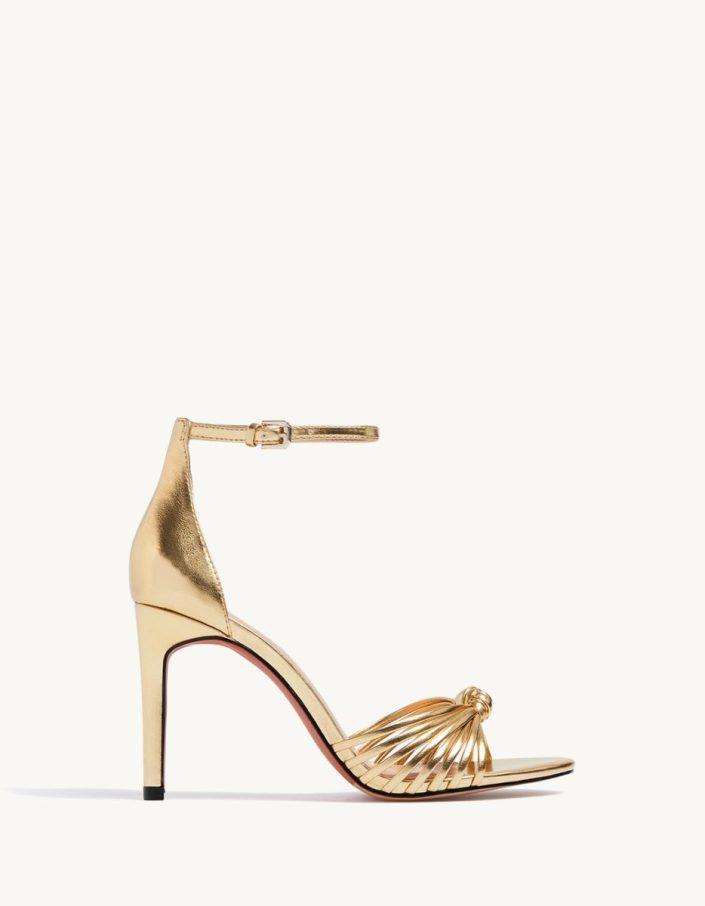 Sandales métallisées STRADIVARIUS