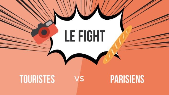 Touristes VS Parisiens : Le fight