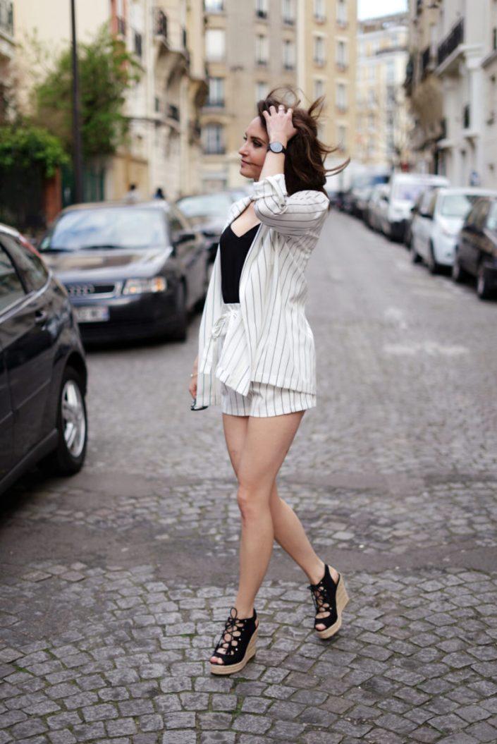 La tendance tailleur short