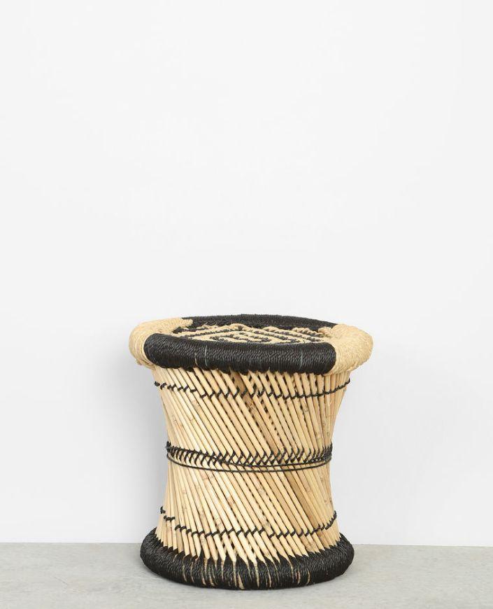 Tabouret tressé en bambou Pimkie