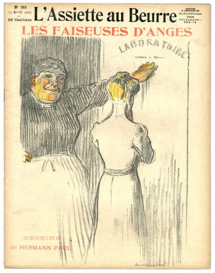 Affiche représentant une faiseuse d'anges Source: International Institute of Social History