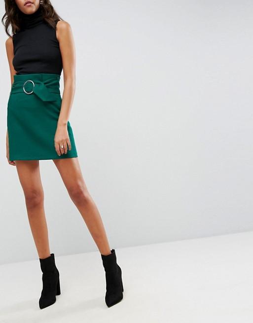 Mini jupe avec boucle