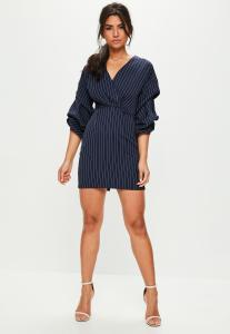 robe-bleue-marine--rayures-et-col-en-v-promotions-missguided-sélection-monsieurmada.me-magazine-tendance-lestendancesdelilou
