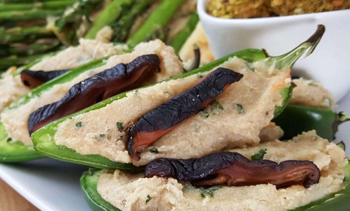 vegan jalapeno poppers shiitake bacon