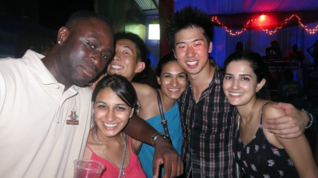 """Priya, Anita, Shaista, and """"King Ramzey"""" Magandey…for coming out and partying it up with us in Ocho Rios, Jamaica. Thank you for making our risky 2 hour drive from Kingston worth every minute. 05/05/14."""
