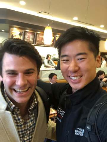 Todd Spitz...my buddy from college, for meeting up with me for an hour before you had to go to work when I had an unexpected 10 hour layover in Tokyo. See you at reunion! 01/17/18.