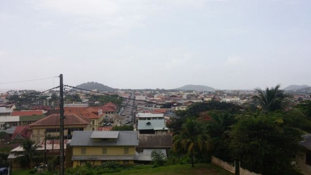 View of Cayenne from Fort Ceperou