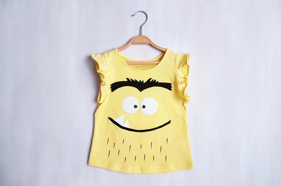 disfraz monstruo colores amarillo anna llenas   disfressa monstre de colors
