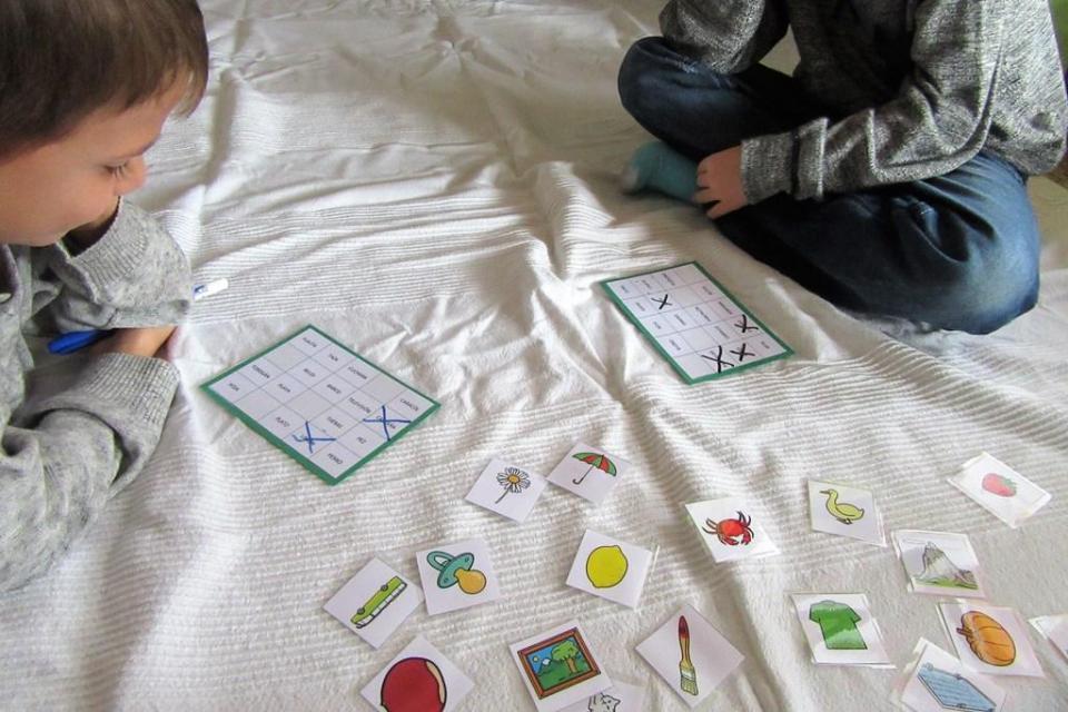 bingo aprender a leer - lectoescritura