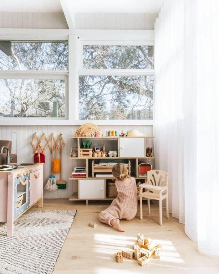 montessori bedroom - habitacion infantil - dormitorio montessori - big space - espacio amplio