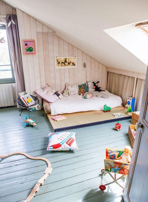 montessori bedroom - habitacion infantil - dormitorio montessori - suelo