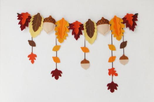 actividades otoño para niños - guirnalda de hojas - leaf garland
