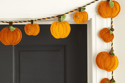 calabaza fieltro decoracion otoño halloween - felt pumpkin autumn fall decoration cover