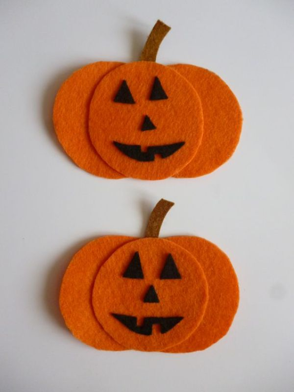 calabaza fieltro decoracion otoño halloween - felt pumpkin autumn fall decoration