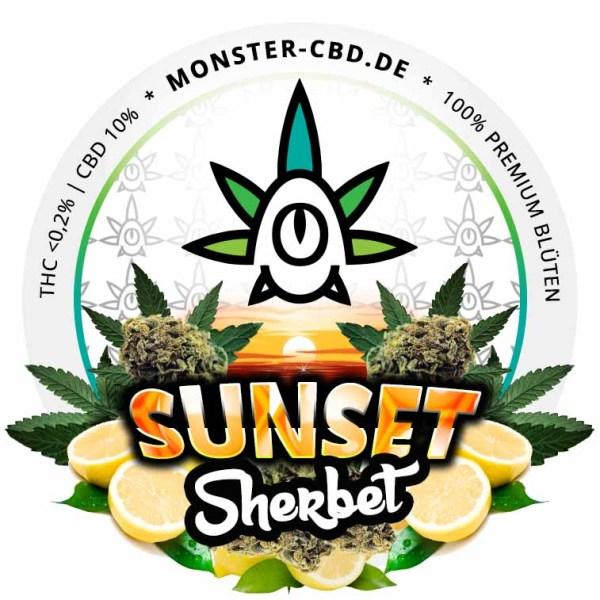 Sunset Sherbet Label