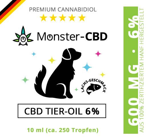 CBD Tier-Oil • 6% CBD Premium Öl für Hunde & Katzen ab 15kg