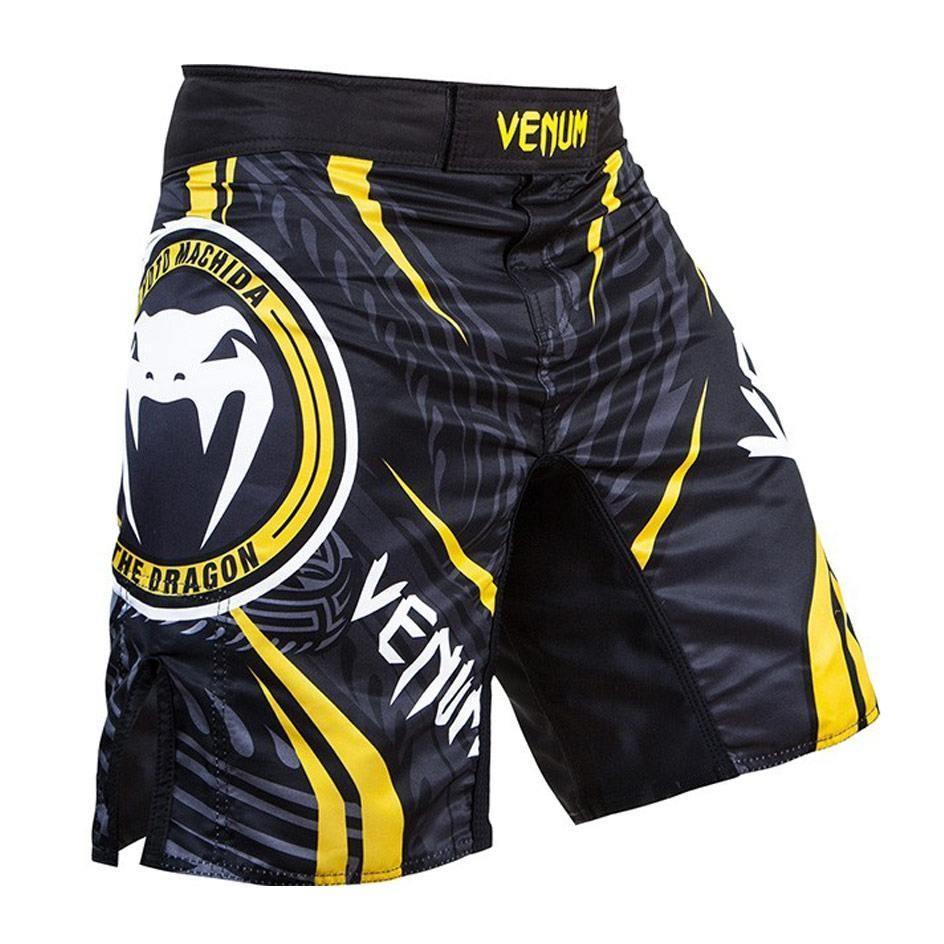 Venum Lyoto Machida Ryugin Fight Shorts Black Amp Yellow