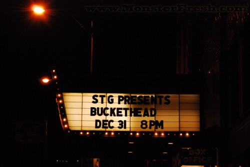 buckethead moore theatre 12/31/08 sign