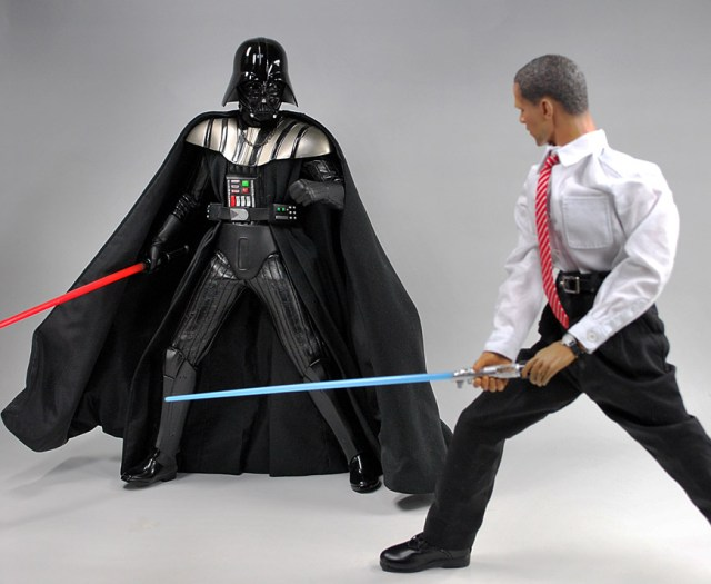 barack obama light saber