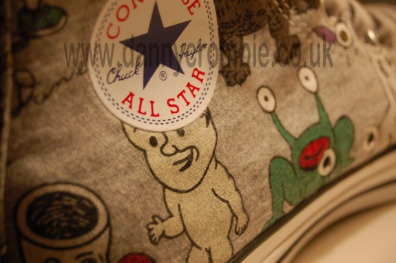 Daniel Johnston converse shoe all star logo
