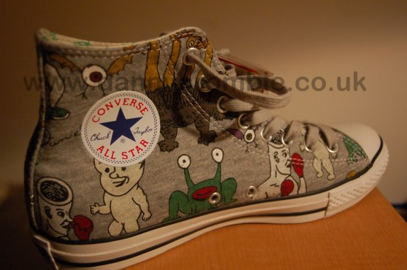 Daniel Johnston converse shoe inner foot
