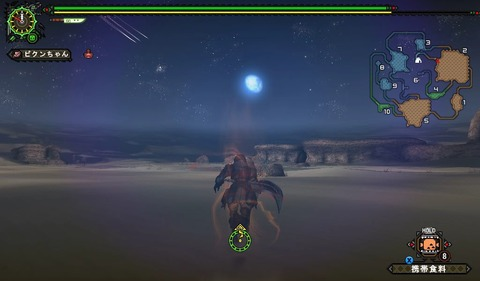 砂漠の月はきれいですなー